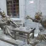 Statuts de bronze - dans les hutongs